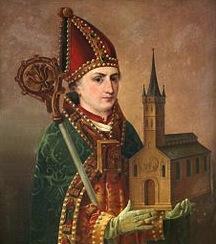 Helgonet Sankt Ansgar som jag dedicerade min Missa Brevis till.